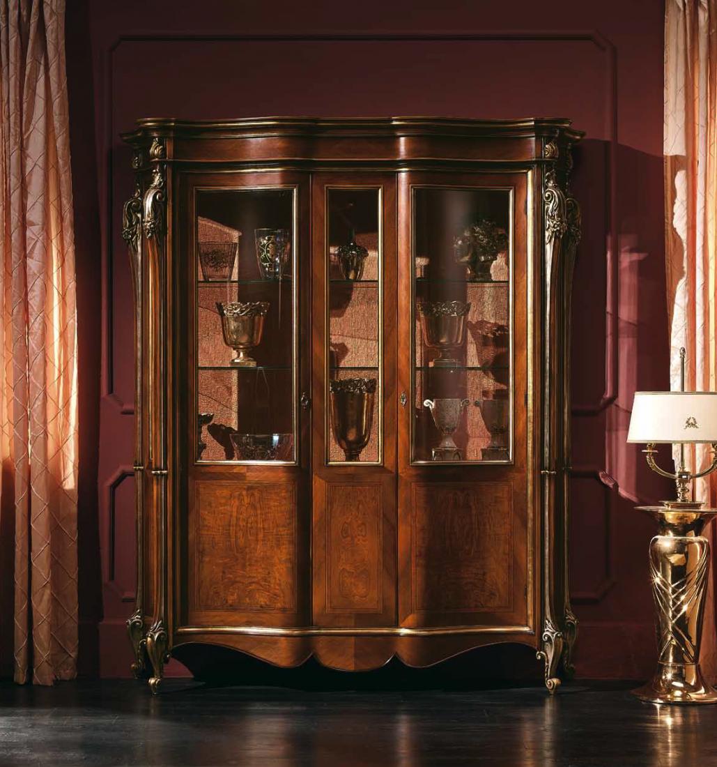 Vetrina 2 porte in frassino mobili in stile linea - Mobili stile barocco ...
