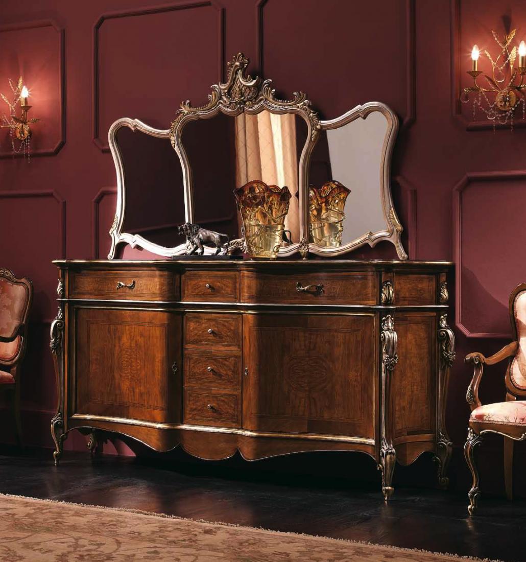 Credenza 2 porte frassino mobili in stile linea intagliata barocco - Mobili in stile barocco ...