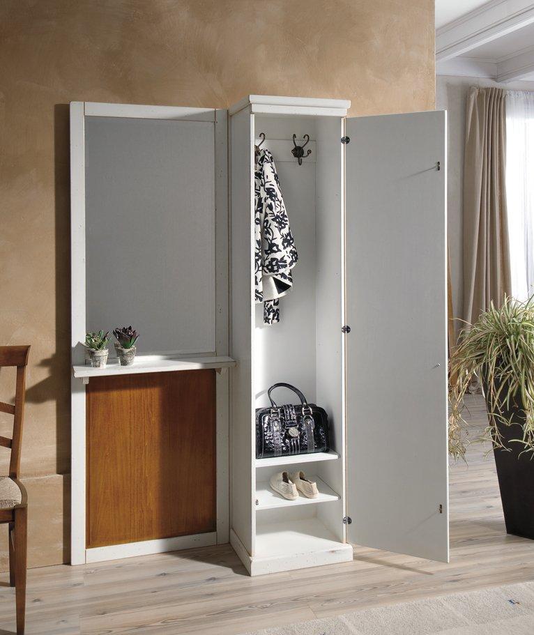 Appendiabiti con 1 anta mobili in stile linea la maison - Armadio porta abiti per ingresso ...