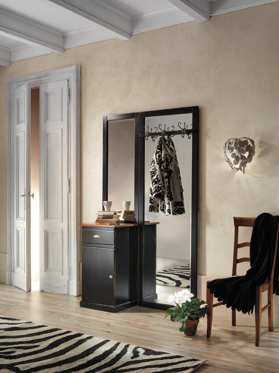 Appendiabiti con specchi mobili in stile linea la maison - Specchi in stile ...