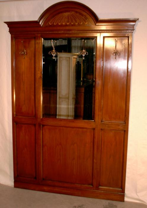 Appendiabiti in ciliegio intarsiato con specchio e 4 - Armadio ciliegio specchio ...