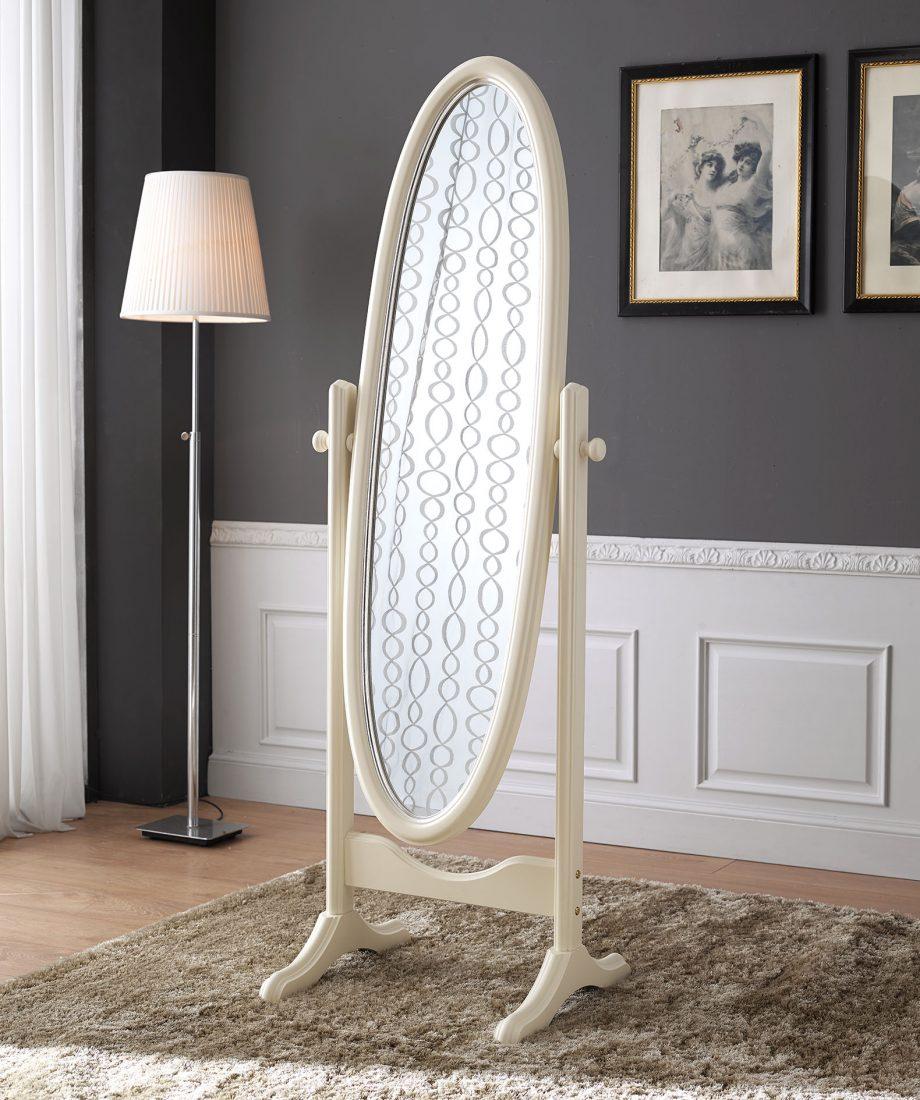 Beautiful laa specchiera laccata avorio con particolari in foglia argento brillante with - Specchi particolari per bagno ...