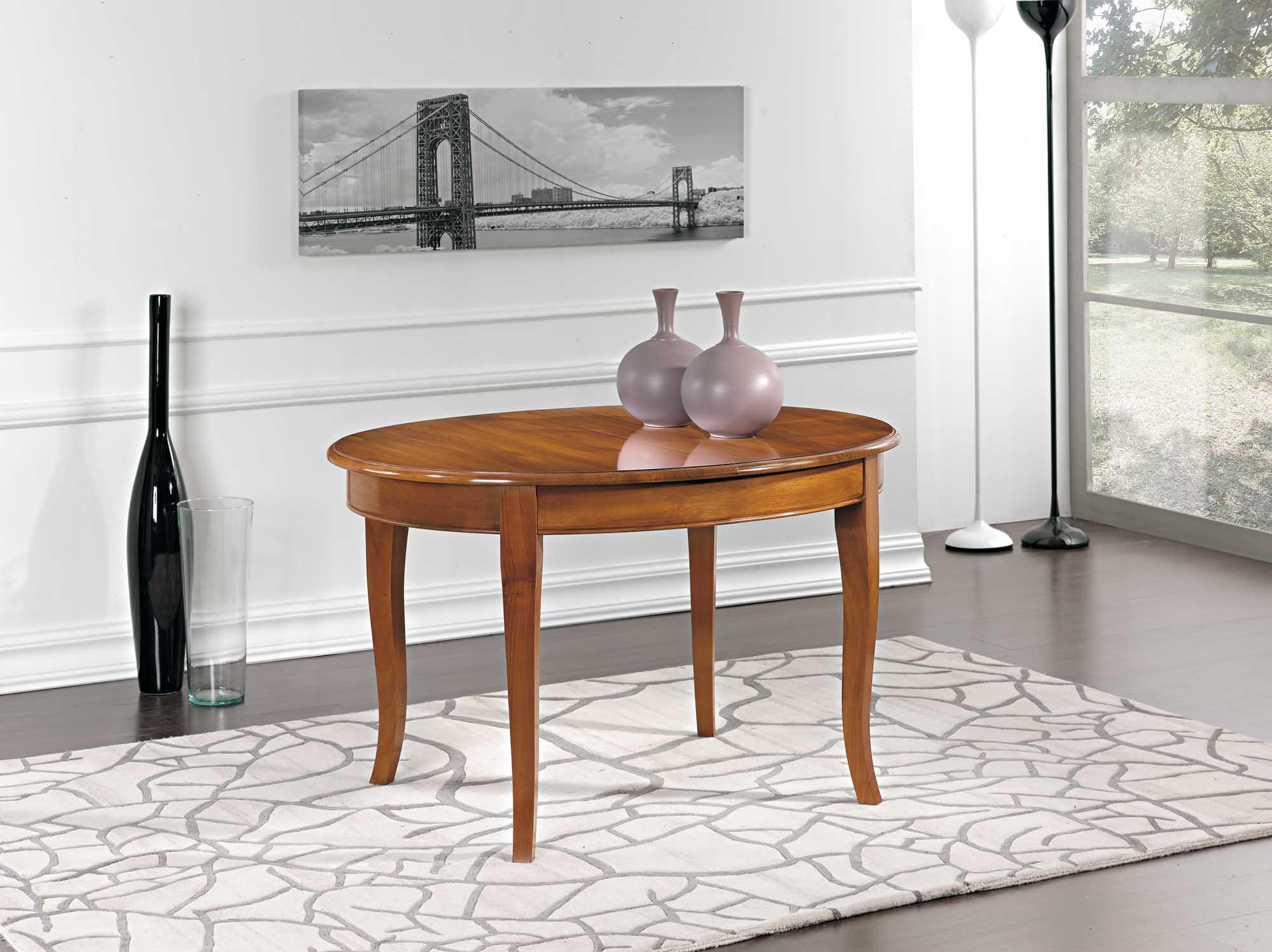 Tavolo ovale allungabile massello antiquariato e mobili for Tavolo ovale allungabile legno massello