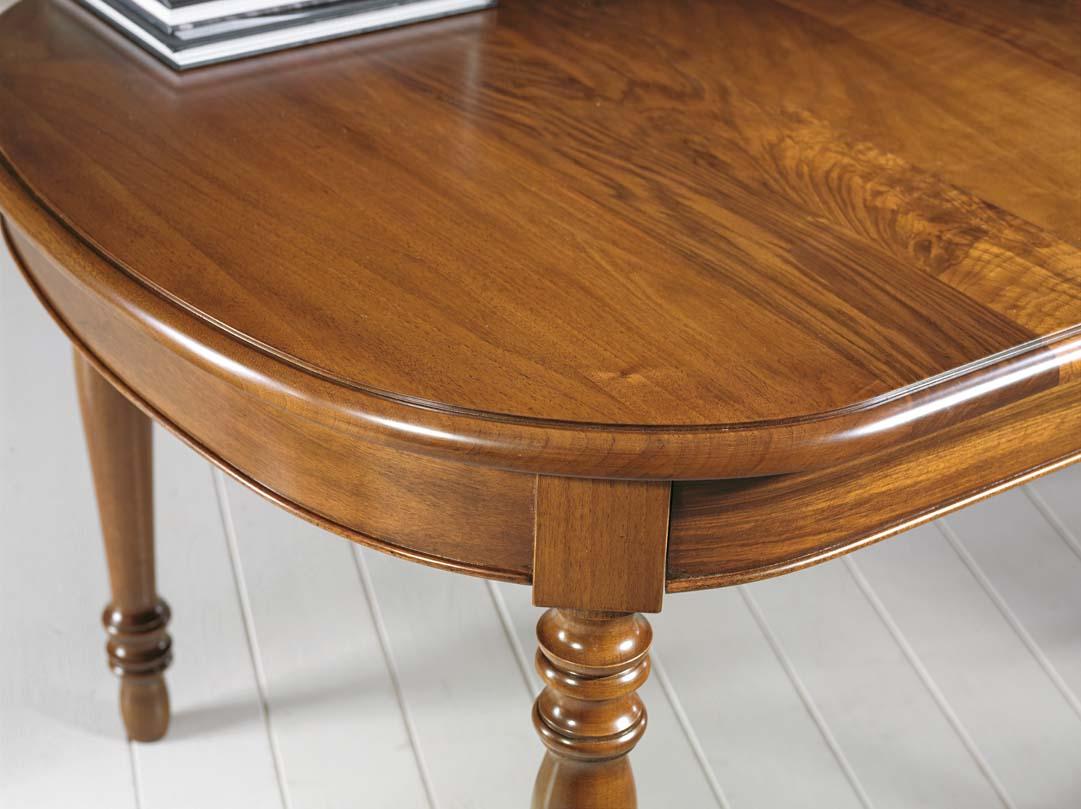 Tavolo ovale allungabile massello mobili in stile linea - Tavolo ovale allungabile ...