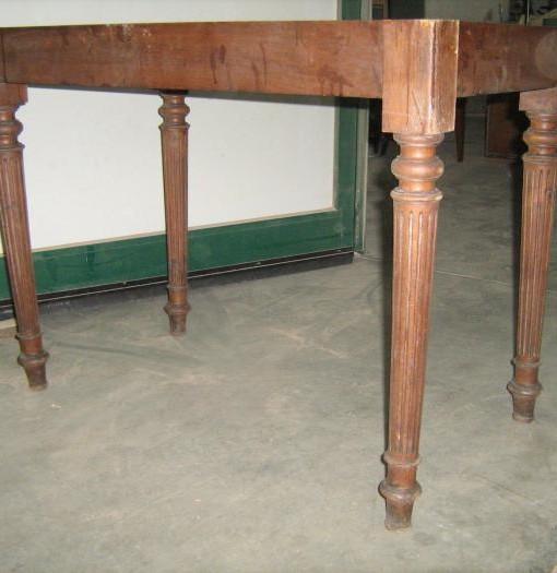 Base di tavolino originale in noce