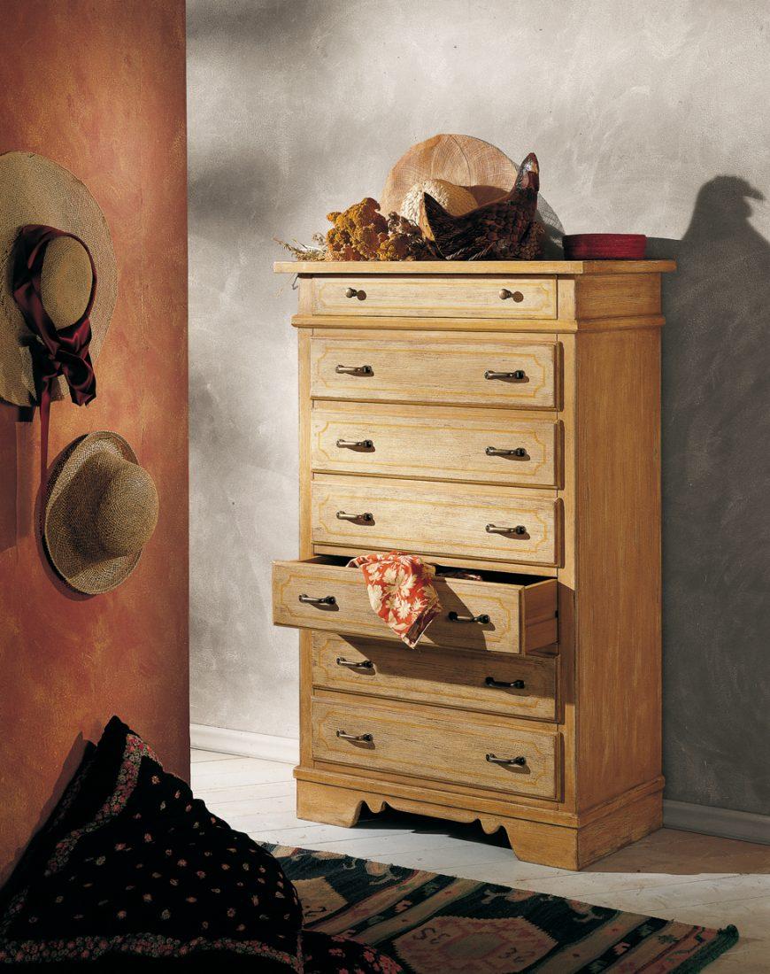 Cassettiera 7 cassetti mobili in stile linea la maison - La maison mobili ...