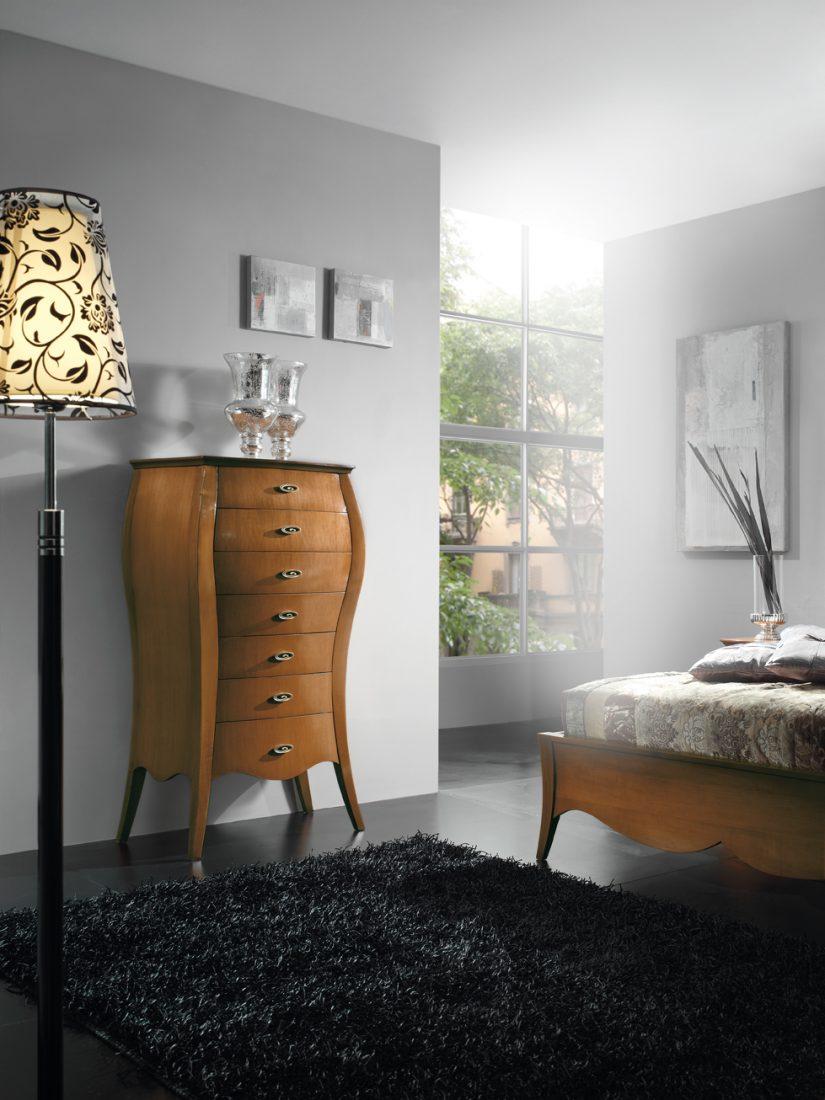 Cassettiera bombata 7 cassetti mobili in stile linea - La maison mobili ...