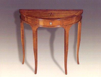 Console mezzaluna intarsiata mobili in stile linea elite for Mobili antichi 1800