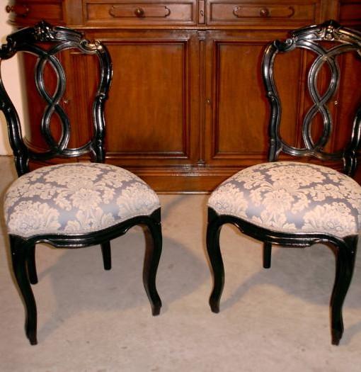 Coppia di sedie originali in faggio