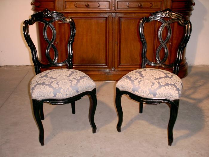 Coppia di sedie originali in faggio antiquariato for Sedie originali