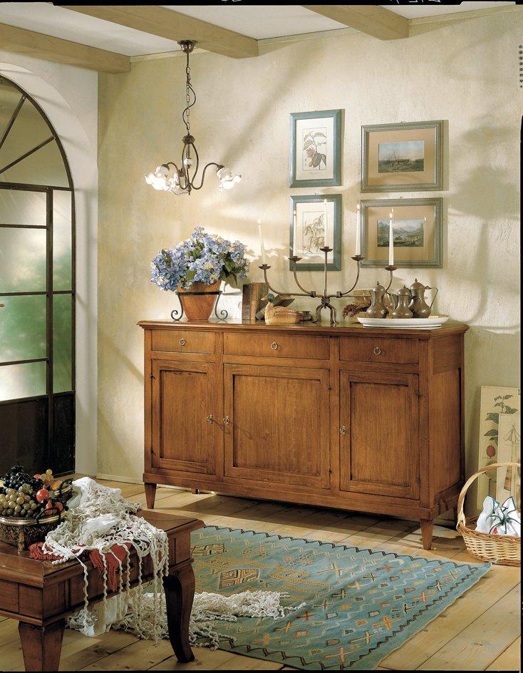 Credenza 3 ante e 3 cassetti mobili in stile linea la maison - La maison mobili ...