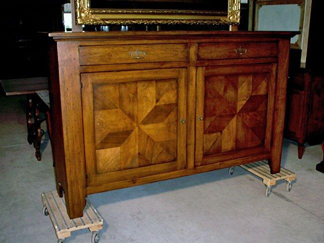Credenza in legno vecchio di noce mobili in stile - Mobili legno vecchio ...