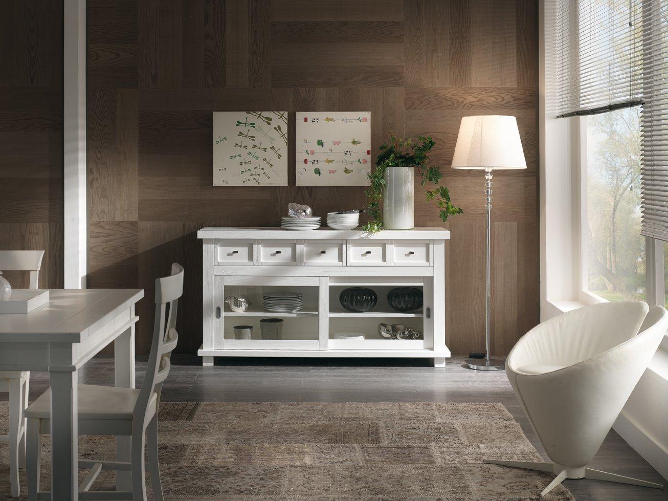 Credenza Con Alzata Bianca : Credenza laccata bianca antiquariato e mobili in stile