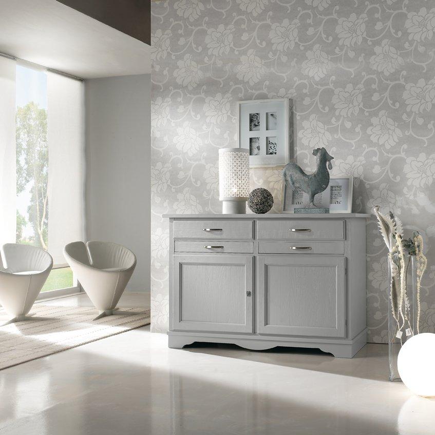 Credenza laccata grigio spazzolato mobili in stile linea la maison - La maison mobili ...