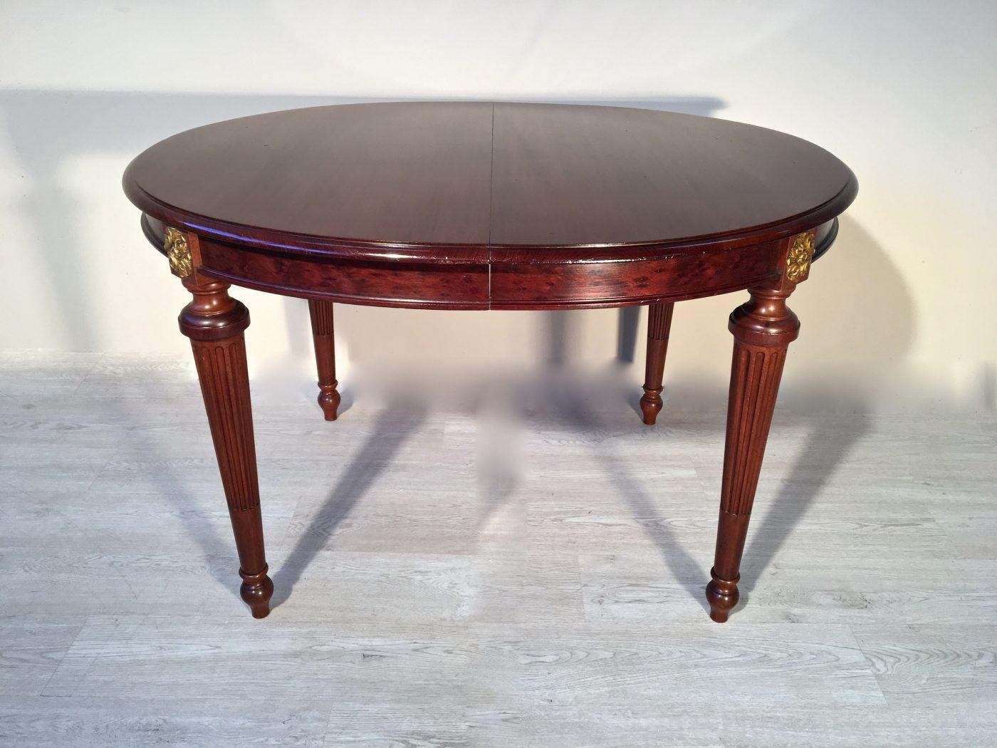 Tavolo ovale allungabile originale in mogano - Tavolo ovale allungabile ...