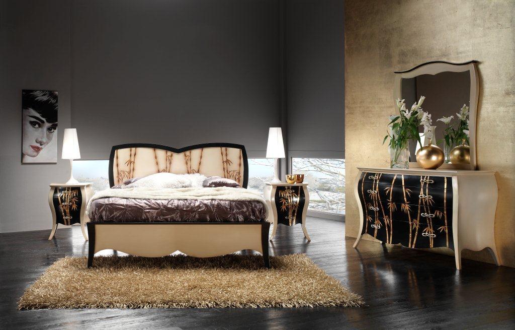 Letto matrimoniale sagomato mobili in stile linea la - La maison mobili ...