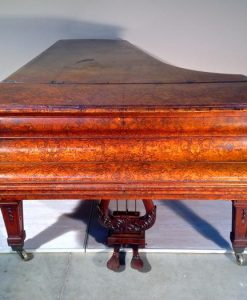E558 Pianoforte a coda in radica di noce originale John Broadwood & Sons