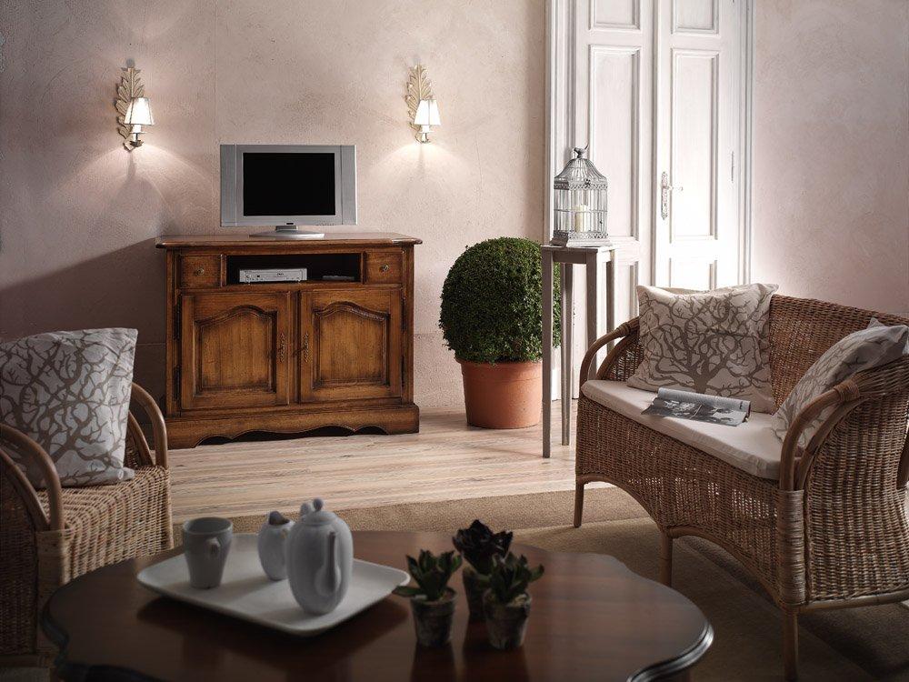 Porta tv 2 ante e 2 cassetti mobili in stile linea la - La maison mobili ...
