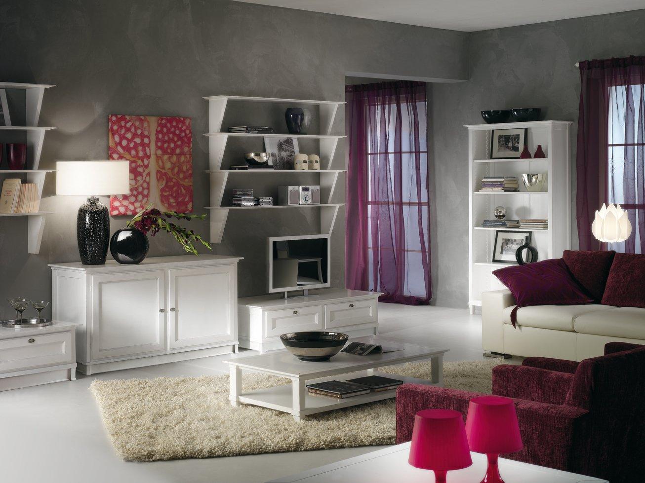 Porta tv a 2 cassetti mobili in stile linea la maison - La maison mobili ...