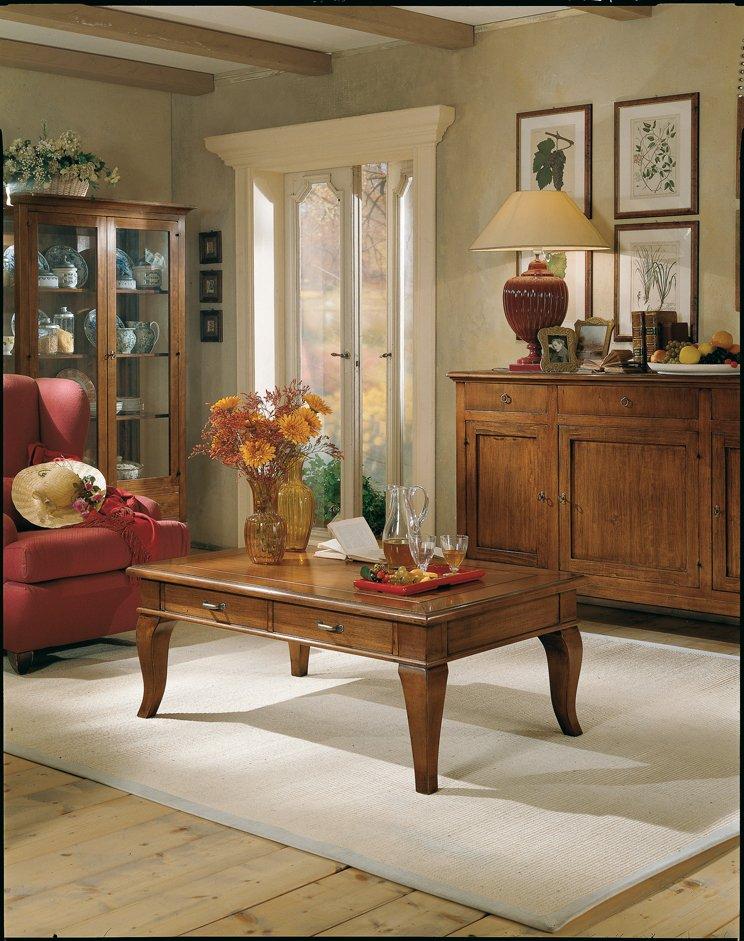 Tavolino con 2 cassetti mobili in stile linea la maison - La maison mobili ...