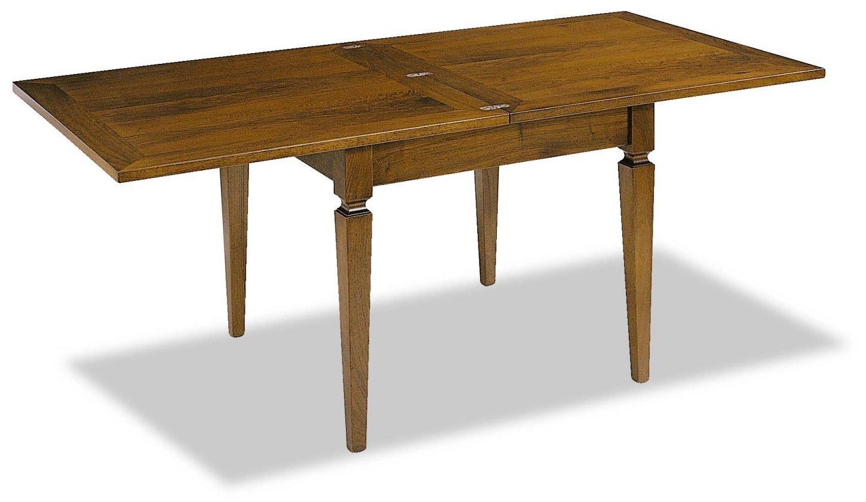 Tavolo massello allungabile a libro mobili in stile - Tavolo allungabile a libro ...