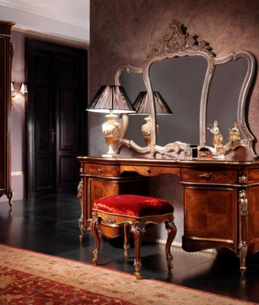 Toilette in noce mobili in stile linea intagliata barocco - Mobili in stile barocco ...