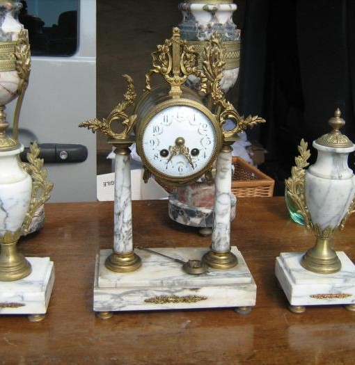 Trittico originale in marmo e antimonio
