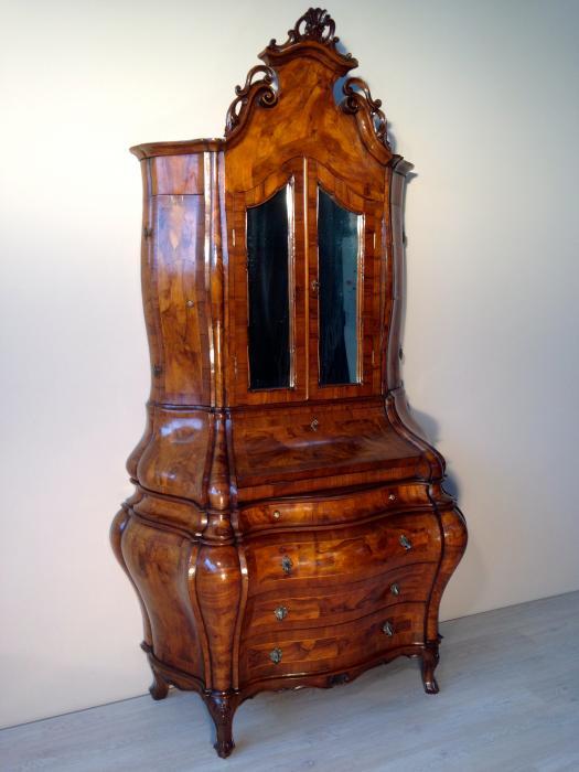 Trumeau originale in radica di noce antiquariato e mobili in stile chiaramonte verona - Mobili in radica di noce ...