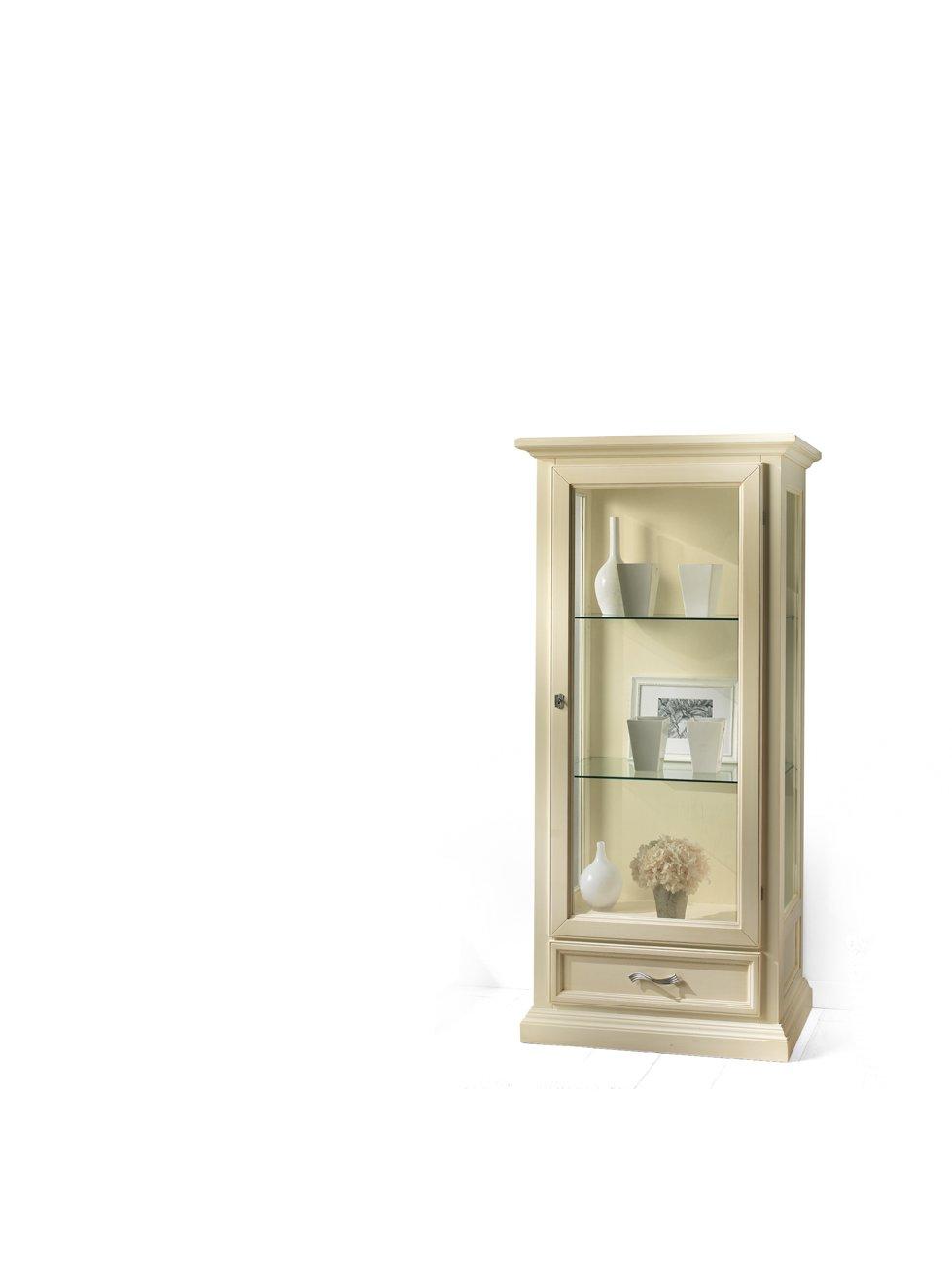 Vetrina 1 anta e 1 cassetto mobili in stile linea la - La maison mobili ...